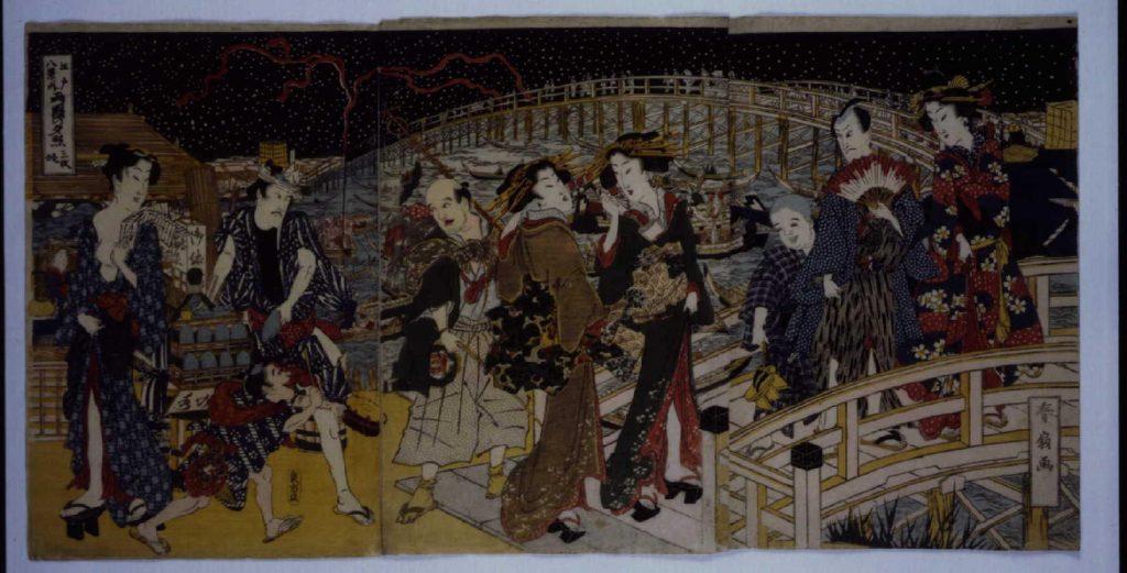作品画像:江戸八景ノ内 両国の夕照
