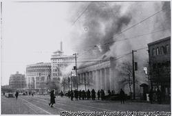 作品画像:炎上中の数寄屋橋安田貯蓄銀行