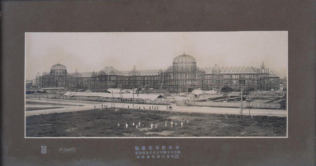 中央停車場建築(東京駅建設写真)