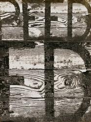 作品画像:板と文字 1954