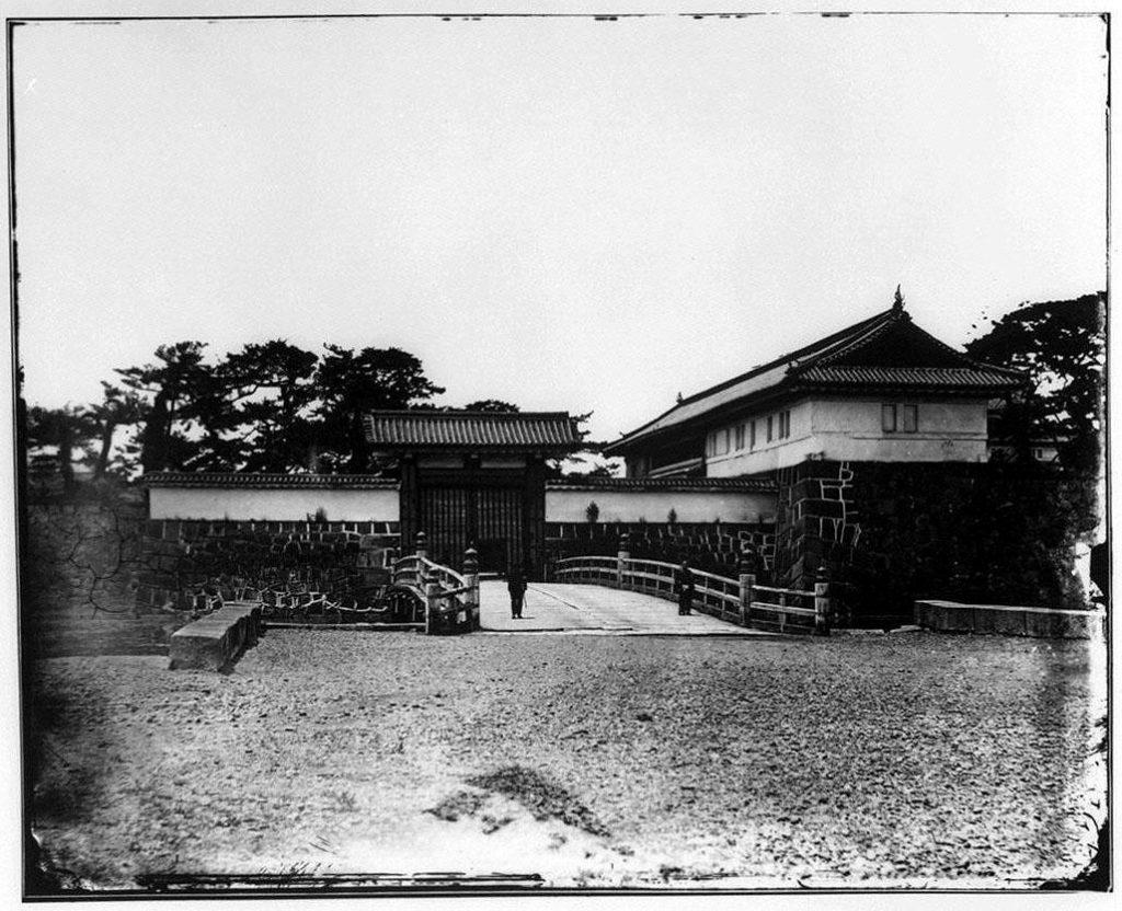 作品画像:旧江戸城写真ガラス原板  大手門