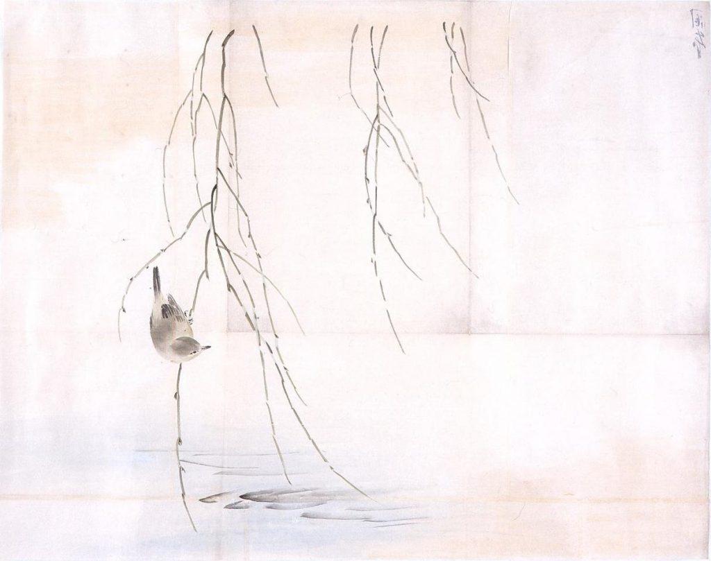 作品画像:粉本 柳に鶯