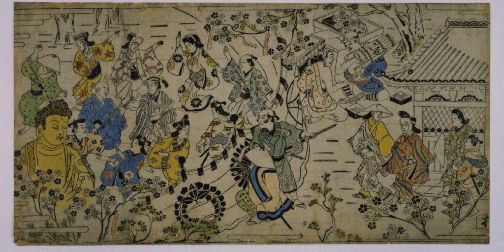 作品画像:上野寛永寺境内花見の景