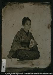 作品画像:小島呉一郎の妹「りう」肖像写真
