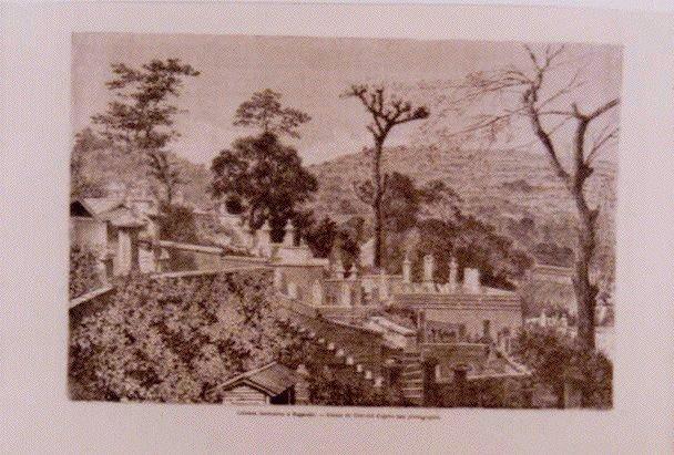 作品画像:アンベール「幕末日本図絵」挿絵 長崎の仏教墓地,馬の絵