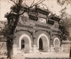 作品画像:臥仏寺牌楼