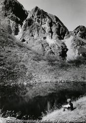 作品画像:池畔に憩う、奥又白池