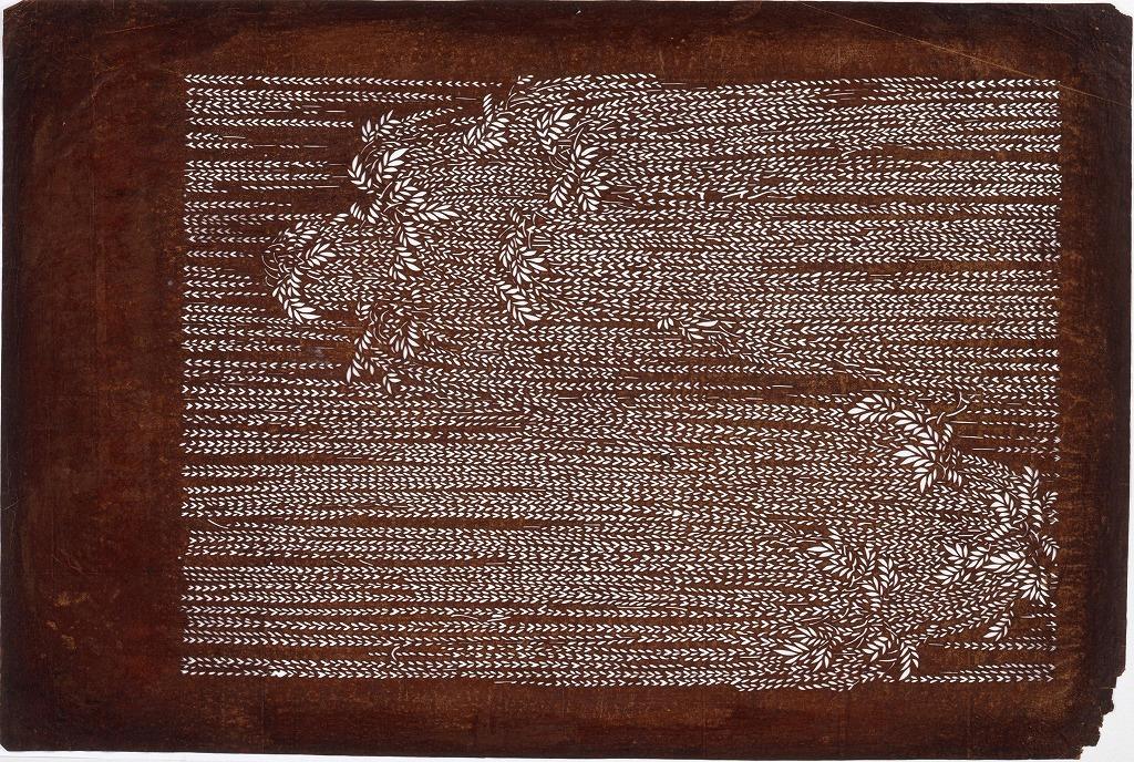 作品画像:長板中形型紙 柳(大判 追掛)