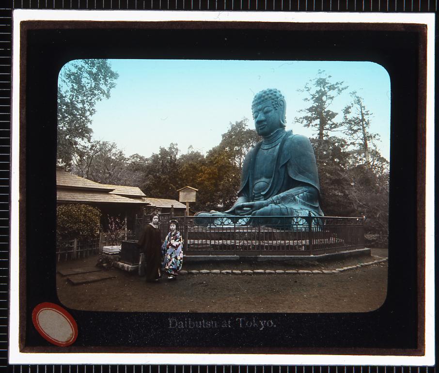 作品画像:東京 上野大仏(幻灯原板)