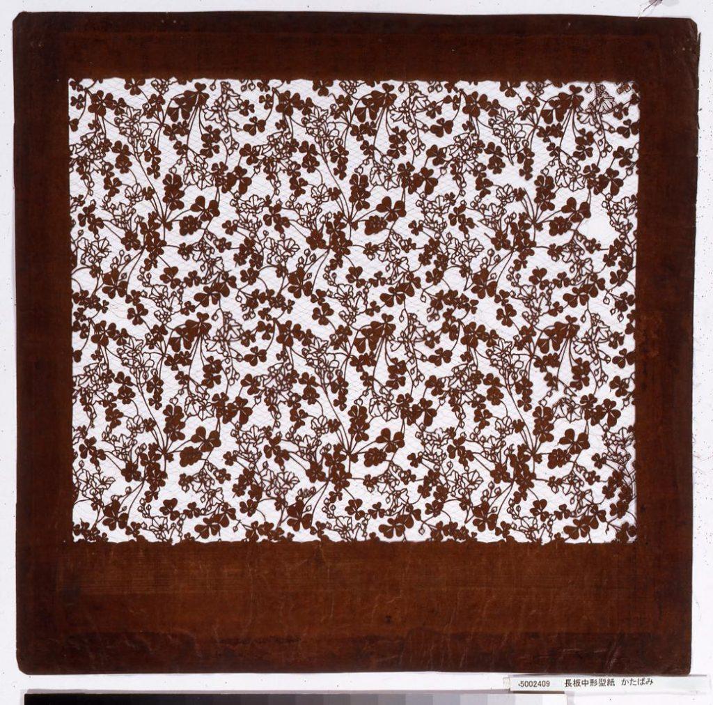 作品画像:長板中形型紙 かたばみ