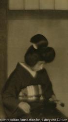 作品画像:楽器を持てる婦人