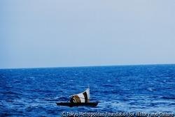 サントメ島からギニア湾を望む。EC(欧州共同体)加盟国のジャーナリストではない岡村は、ここでビアフラへ「入国」するビザをとるため20日間留め置かれた