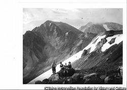 作品画像:白馬岳、白馬鑓ヶ岳を背景に