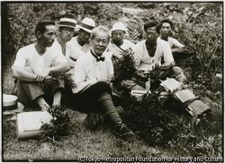 牧野富太郎・植物学博士、文化功労者。国際学会に日本初新種ヤマトグサを発表