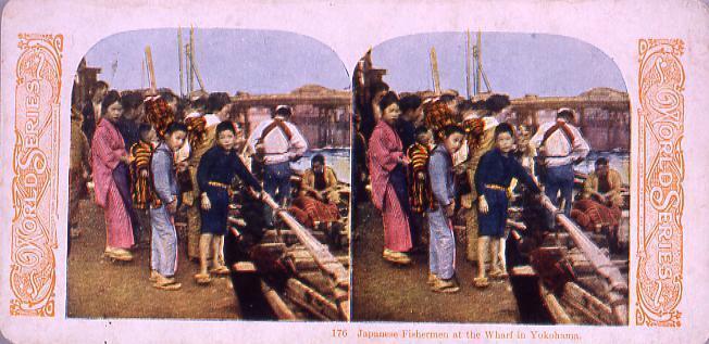 作品画像:Japanese FishermenAt the Wharf in Yokohama.176