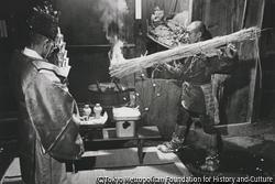 作品画像:サイの神 火を移す
