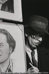 作品画像:東京銀座 街に立つ似顔絵師