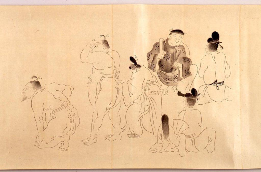 作品画像:写本 相撲之古図