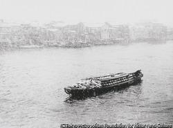 作品画像:雪の隅田川
