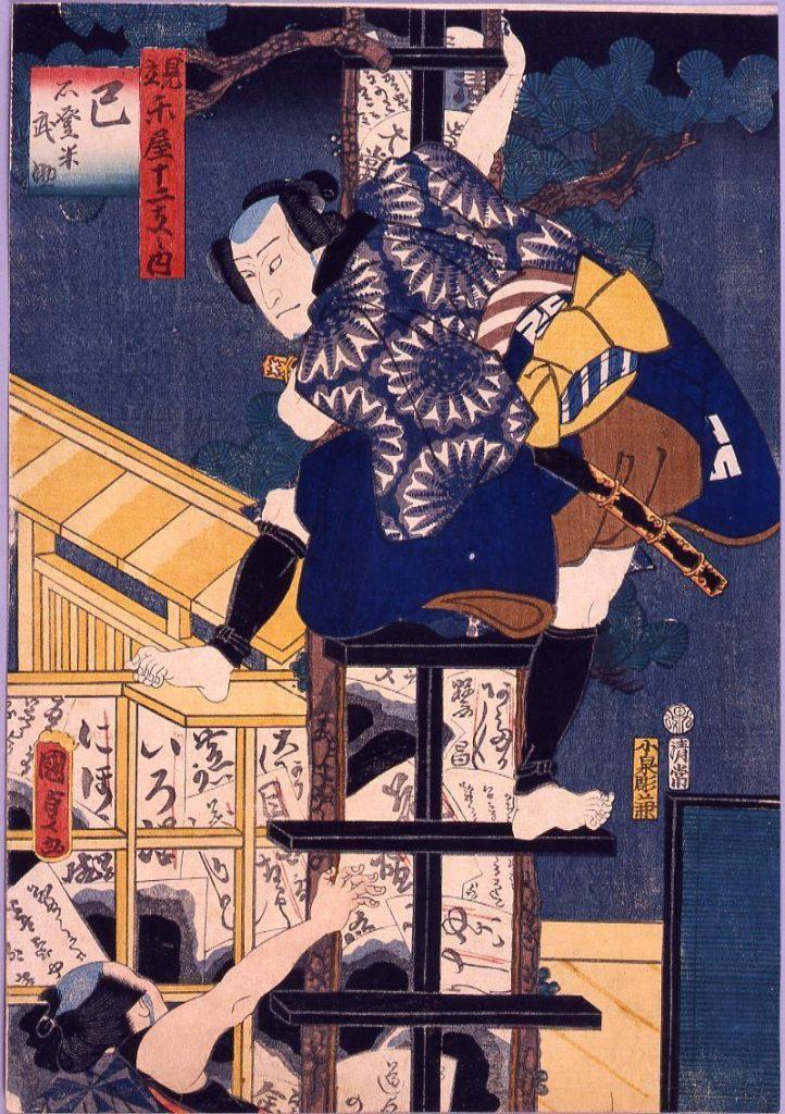 作品画像:楽屋十二支 巳 石登米武助