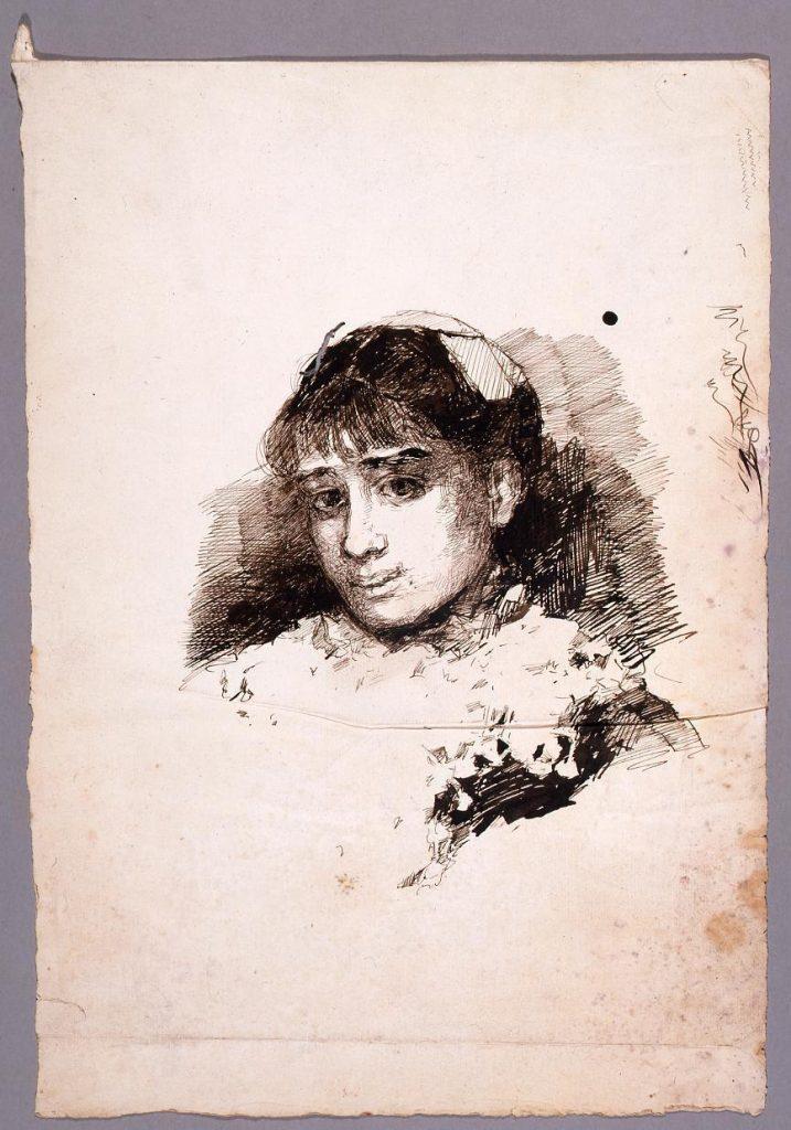 作品画像:素描  少女