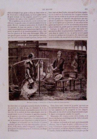 アンベール「幕末日本図絵」挿絵 日本橋南詰,棒手振と焼魚屋