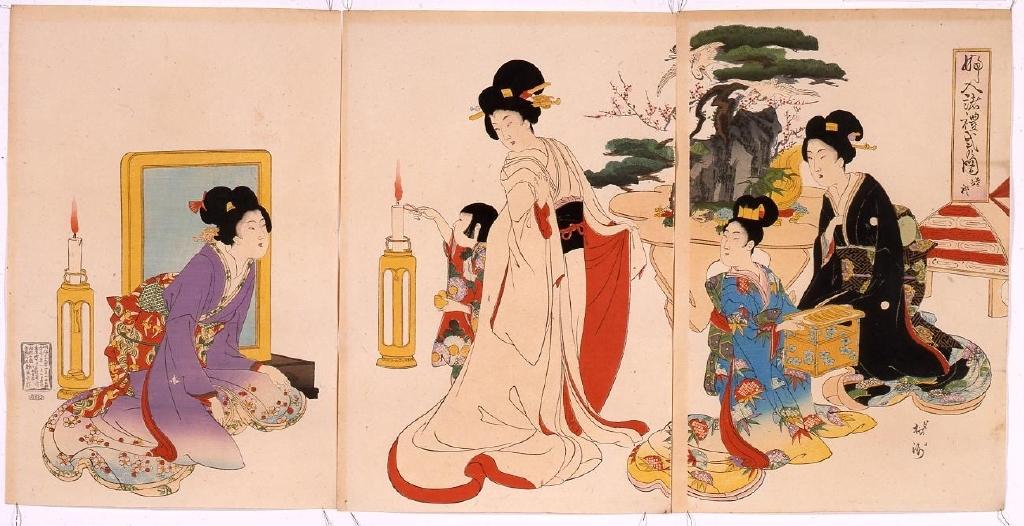 作品画像:婦人諸礼式の図 婚礼