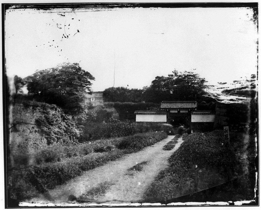 作品画像:旧江戸城写真ガラス原板  清水門