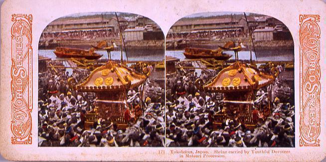 作品画像:Yokohama,Japan.Shrine carried by Yokohama Devotees in Matsuri Procession.171
