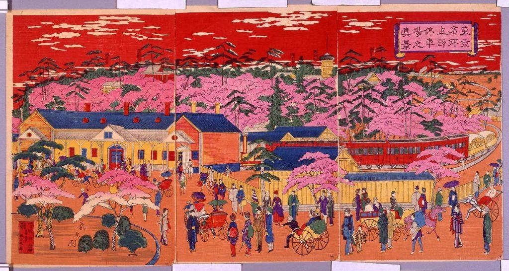 作品画像:東京名所 上野停車場之真景