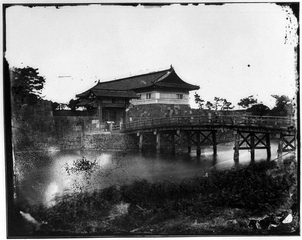 作品画像:旧江戸城写真ガラス原板  常盤橋門