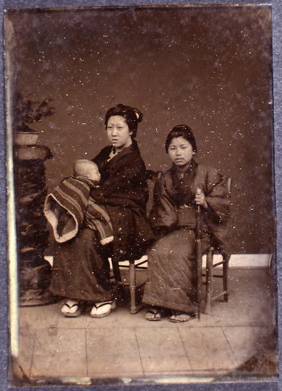 作品画像:母子と下女