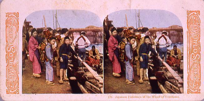 作品画像:Japanese FishermenAt the Wharf in Yokohama.176