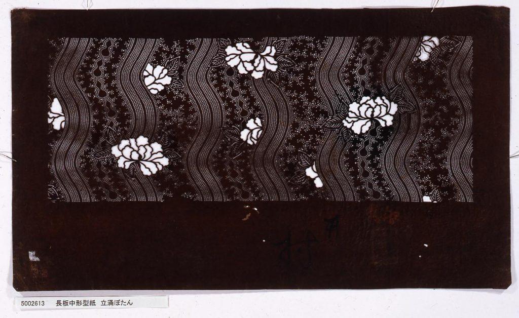 作品画像:長板中形型紙 立涌ぼたん