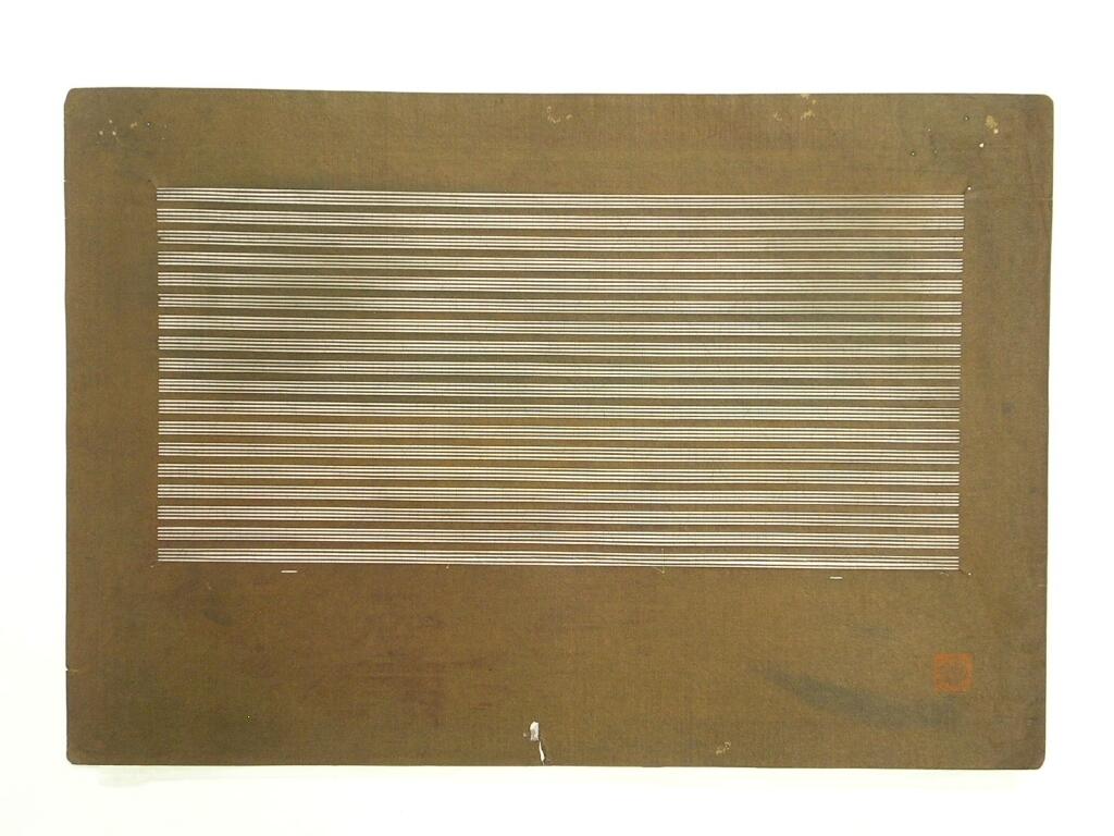 作品画像:長板中形型紙 中判糸入 四筋立縞