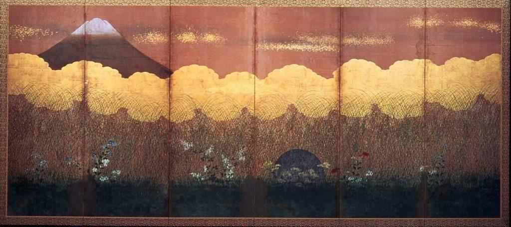 作品画像:武蔵野図屏風