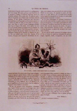 アンベール「幕末日本図絵」挿絵 父子団欒,子供の遊戯