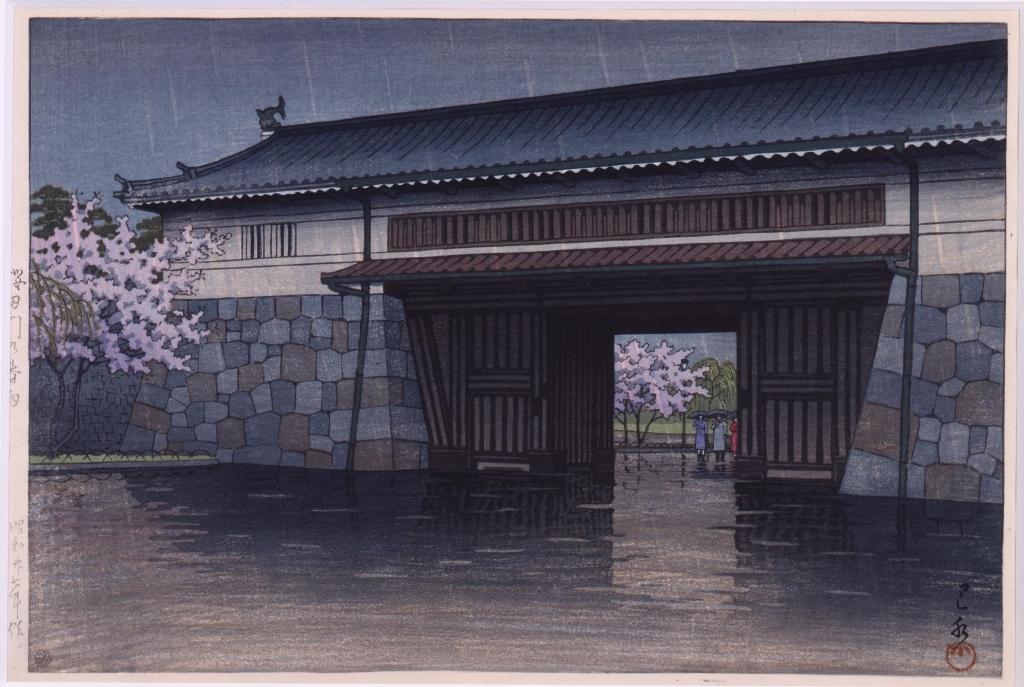 作品画像:桜田門の春雨