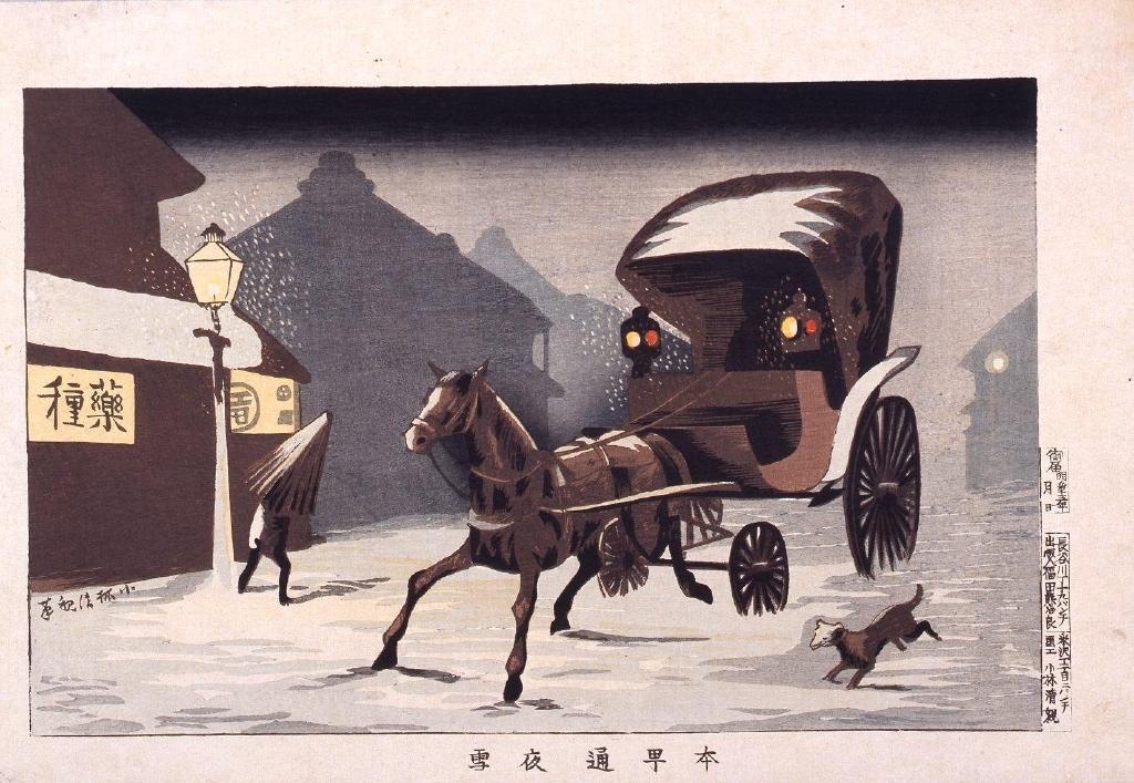 作品画像:本町通夜雪