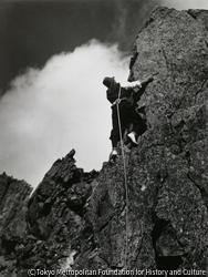 作品画像:岩登り