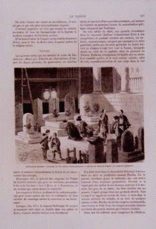 作品画像:アンベール「幕末日本図絵」挿絵 仏教の奇跡,墓参