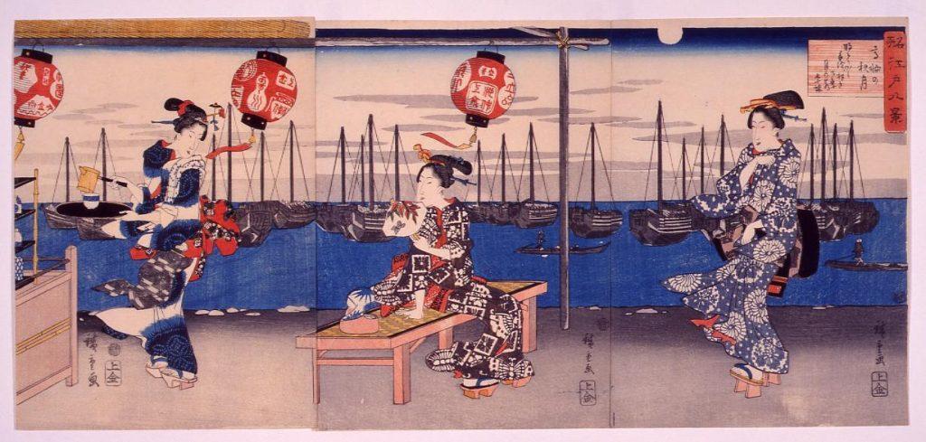 作品画像:名所江戸八景 高輪の秋月