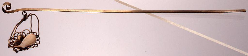 作品画像:銀鍍金篭に鯛貝飾簪