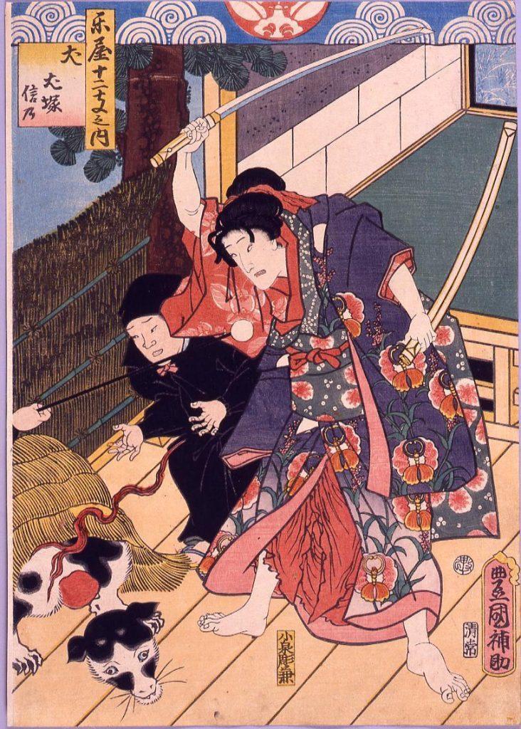 作品画像:楽屋十二支 犬 犬塚信乃