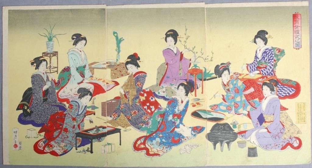 作品画像:教育女礼式之図