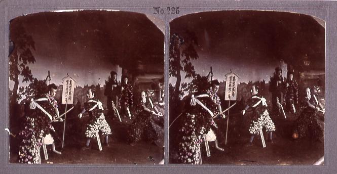 作品画像:団子坂の菊人形(高田馬場、安兵衛仇討の場)(No.225)