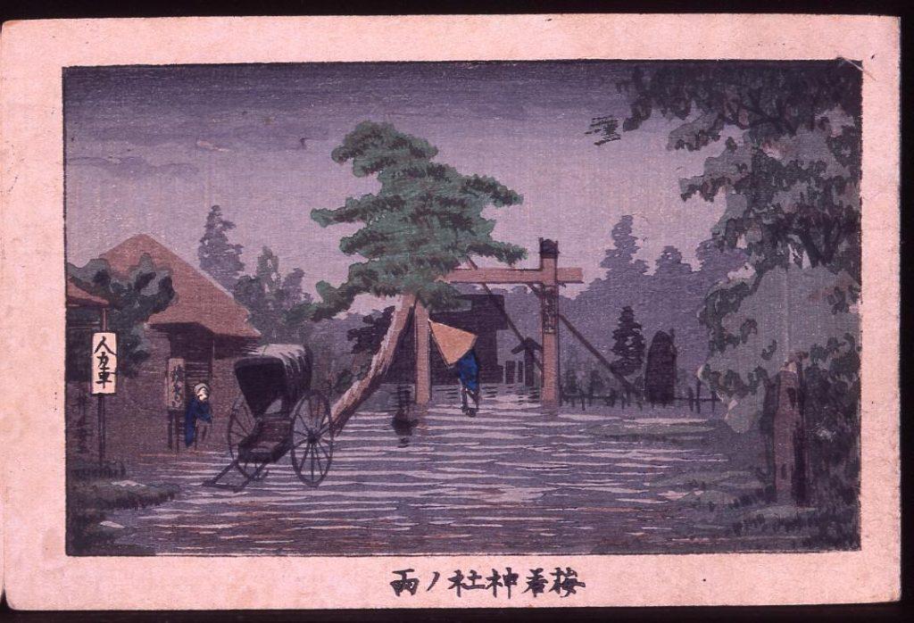 梅若神社ノ雨