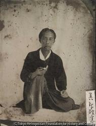作品画像:小島呉一郎(柳蛙の長男)肖像写真