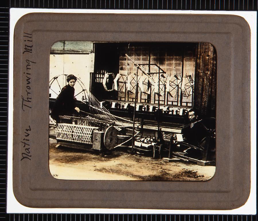 糸車(幻燈原板)
