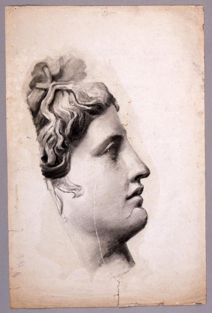 作品画像:素描 石膏像(アポロ)/習作